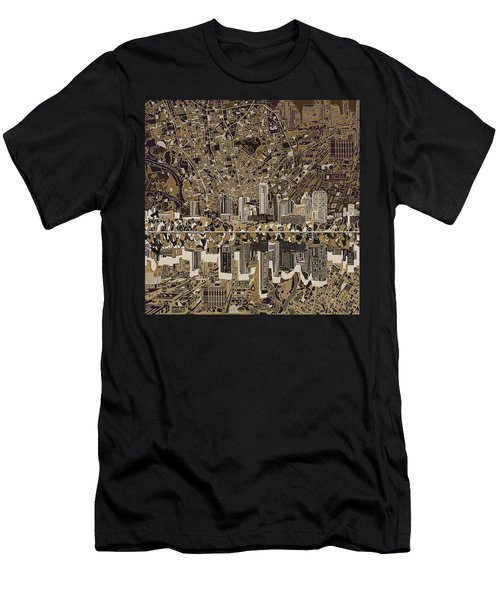 Austin Texas Skyline 5 Men's T-Shirt (Slim Fit) by Bekim Art