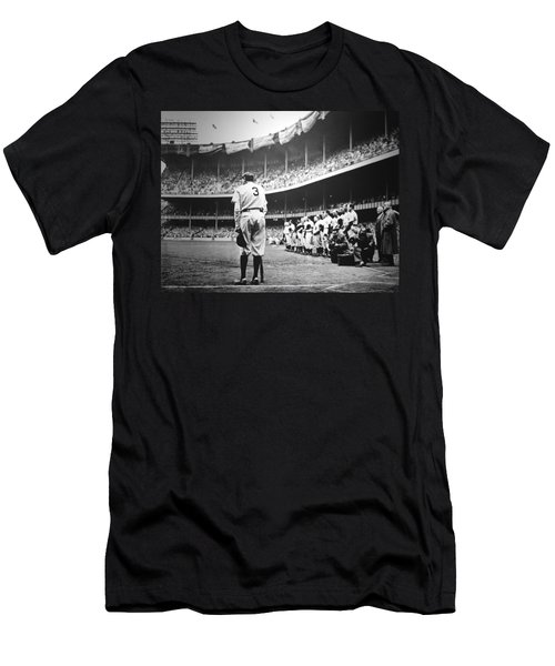 Babe Ruth Poster Men's T-Shirt (Slim Fit) by Gianfranco Weiss