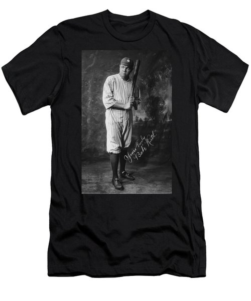 Babe 'the Sultan Of Swat' Ruth  1920 Men's T-Shirt (Slim Fit) by Daniel Hagerman
