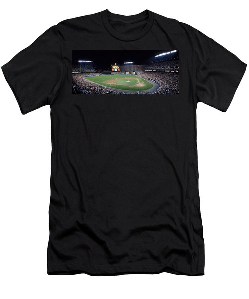 Baseball Game Camden Yards Baltimore Md Men's T-Shirt (Slim Fit) by Panoramic Images