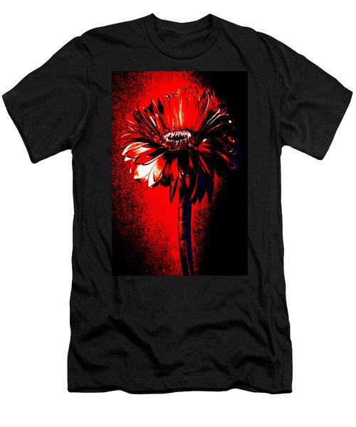 Bloody Mary Zinnia Men's T-Shirt (Slim Fit) by Sherry Allen