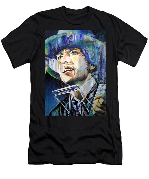 Bob Dylan Tangled Up In Blue Men's T-Shirt (Slim Fit) by Joshua Morton