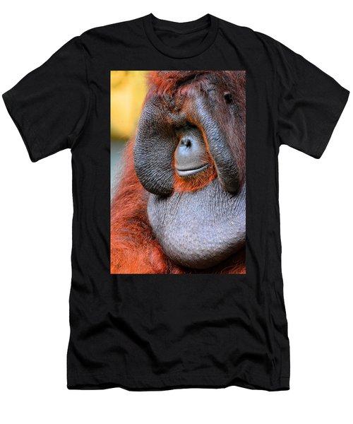 Bornean Orangutan Vi Men's T-Shirt (Slim Fit) by Lourry Legarde
