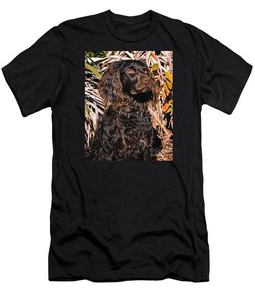 Boykin Spaniel Portrait Men's T-Shirt (Slim Fit) by Timothy Flanigan