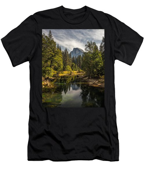 Bridge View Half Dome Men's T-Shirt (Slim Fit) by Peter Tellone