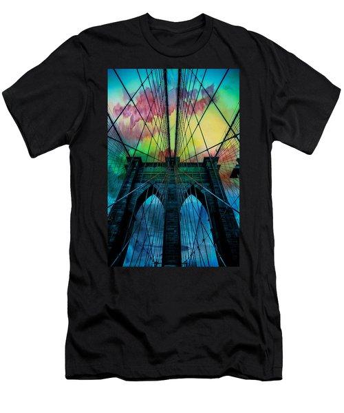 Psychedelic Skies Men's T-Shirt (Slim Fit) by Az Jackson