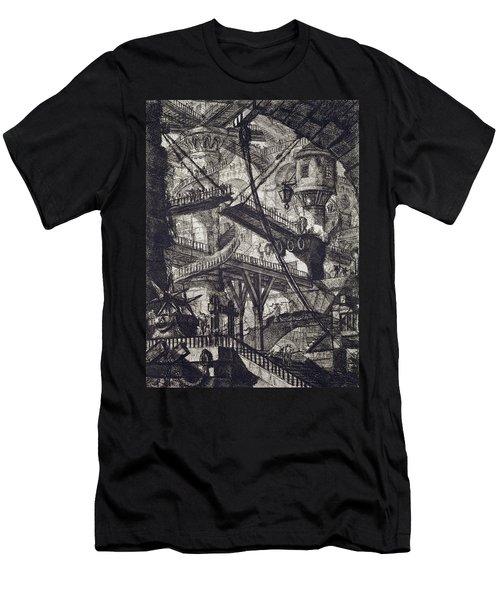 Carceri Vii Men's T-Shirt (Slim Fit) by Giovanni Battista Piranesi