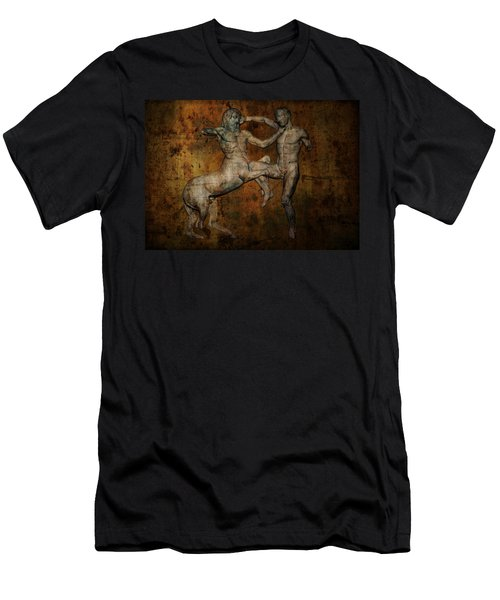 Centaur Vs Lapith Warrior Men's T-Shirt (Slim Fit) by Daniel Hagerman