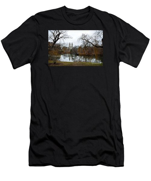 Central Park And San Remo Building In The Background Men's T-Shirt (Slim Fit) by RicardMN Photography