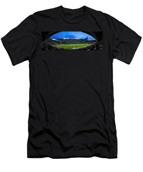 Chicago Bears At Soldier Field Men's T-Shirt (Slim Fit) by Steve Gadomski