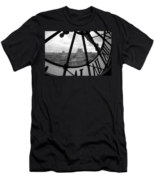 Clock At Musee D'orsay Men's T-Shirt (Slim Fit) by Chevy Fleet