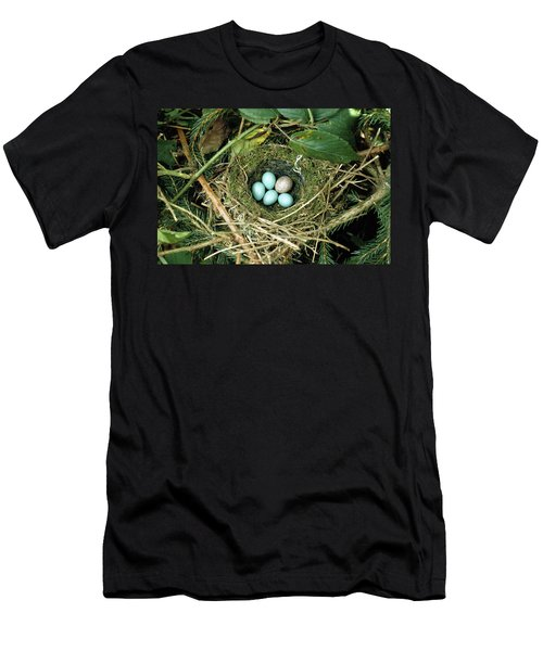 Common Cuckoo Cuculus Canorus Egg Laid Men's T-Shirt (Slim Fit) by Jean Hall