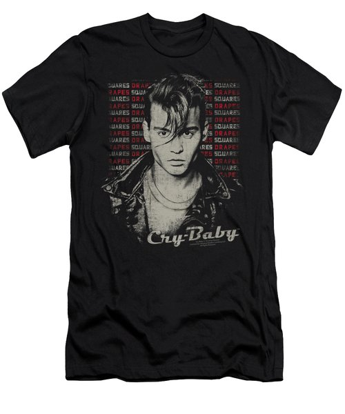 Cry Baby - Drapes And Squares Men's T-Shirt (Slim Fit) by Brand A