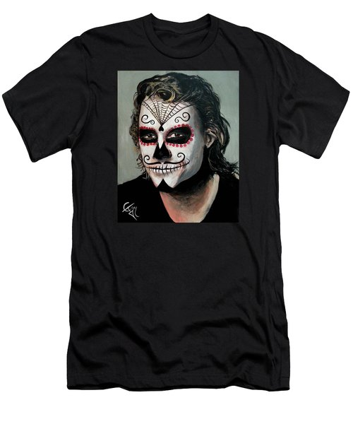 Day Of The Dead - Heath Ledger Men's T-Shirt (Slim Fit) by Tom Carlton