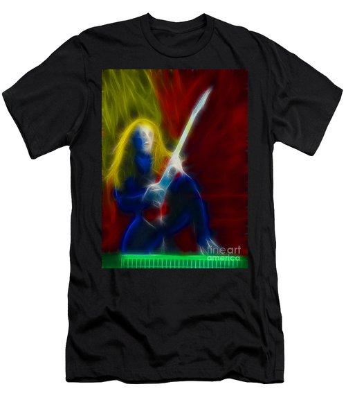 Def Leppard-adrenalize-ga5-vivian-fractal Men's T-Shirt (Slim Fit) by Gary Gingrich Galleries