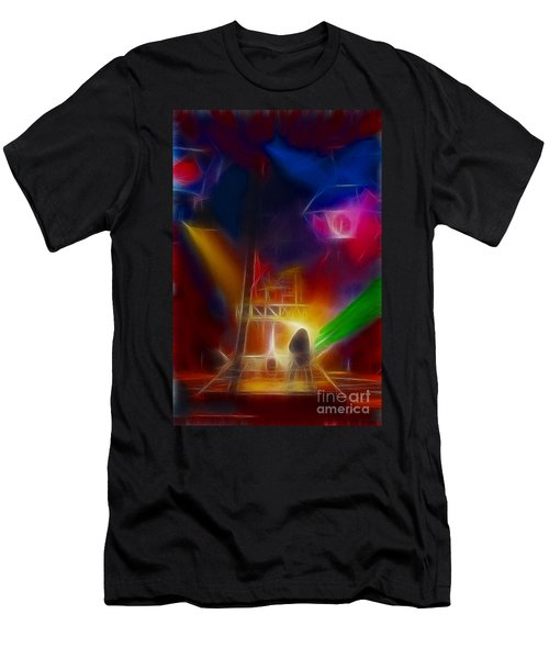 Def Leppard-adrenalize-gf10-fractal Men's T-Shirt (Slim Fit) by Gary Gingrich Galleries