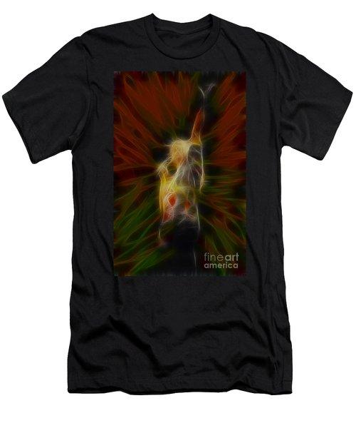 Def Leppard-adrenalize-joe-gb22-fractal-1 Men's T-Shirt (Slim Fit) by Gary Gingrich Galleries