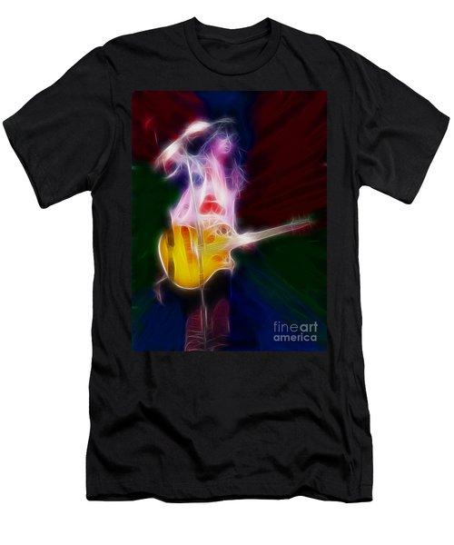 Deff Leppard-adrenalize-joe-gf25-fractal Men's T-Shirt (Slim Fit) by Gary Gingrich Galleries