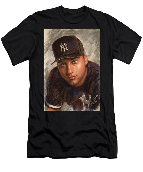 Derek Jeter Men's T-Shirt (Slim Fit) by Viola El