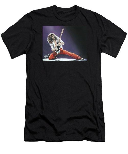 Eddie Van Halen Men's T-Shirt (Slim Fit) by Tom Carlton