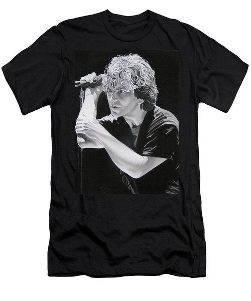 Eddie Vedder Black And White Men's T-Shirt (Slim Fit) by Joshua Morton