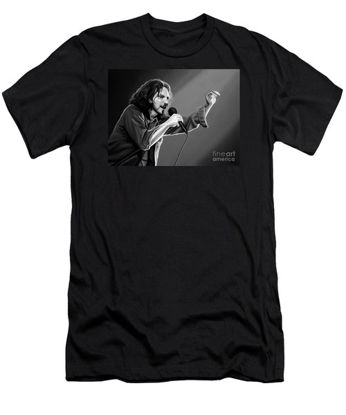 Eddie Vedder  Men's T-Shirt (Slim Fit) by Meijering Manupix