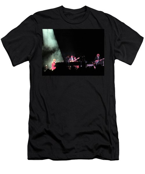 Elton And Band Men's T-Shirt (Slim Fit) by Aaron Martens