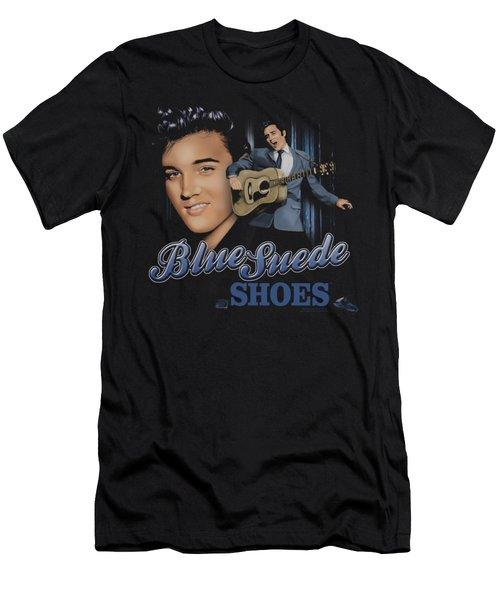 Elvis - Blue Suede Shoes Men's T-Shirt (Slim Fit) by Brand A