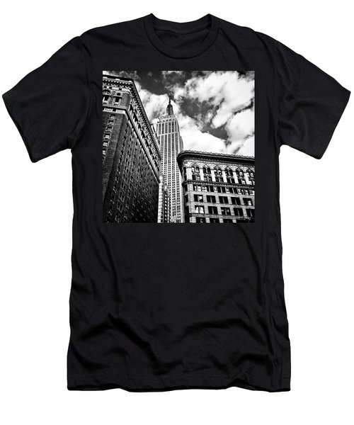 Empire State Building And New York City Skyline Men's T-Shirt (Slim Fit) by Vivienne Gucwa