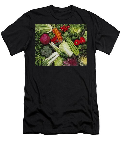 Food- Produce, Mixed Vegetables Men's T-Shirt (Slim Fit) by Ed Young