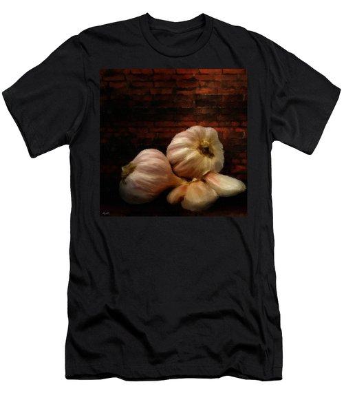 Garlic Men's T-Shirt (Slim Fit) by Lourry Legarde