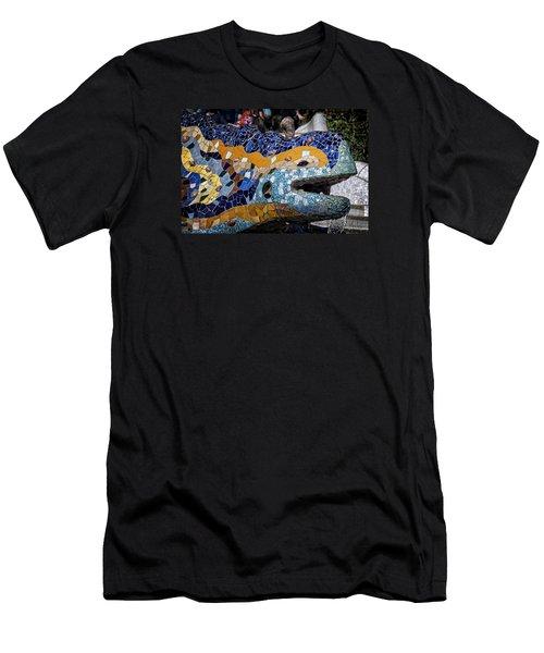 Gaudi Dragon Men's T-Shirt (Slim Fit) by Joan Carroll