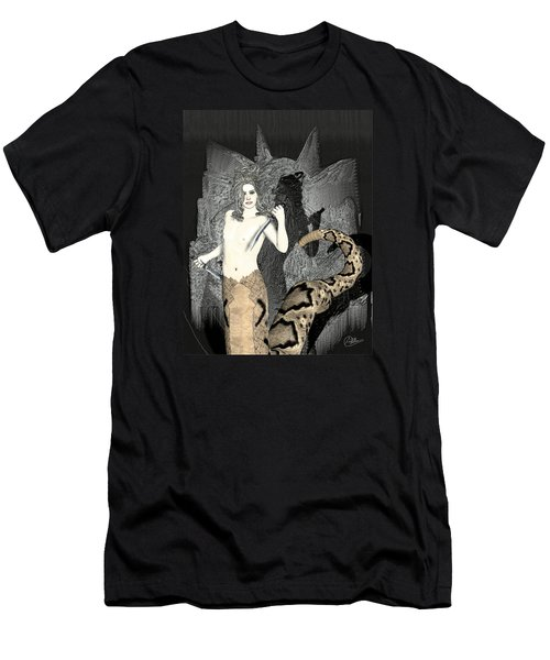 Male Medusa  Men's T-Shirt (Slim Fit) by Quim Abella