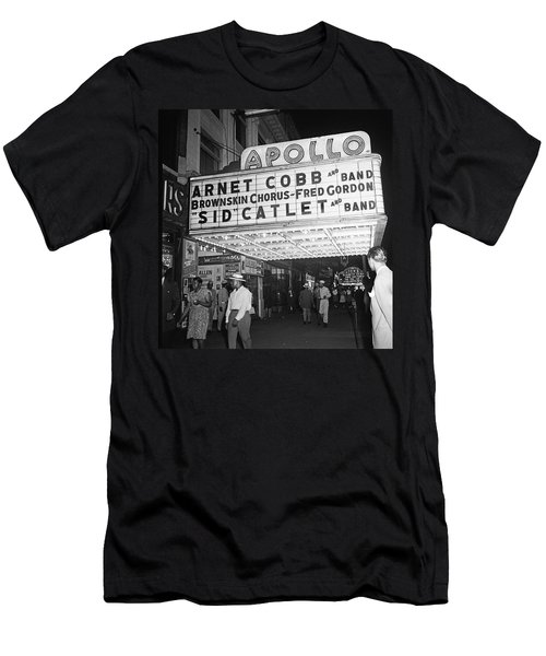 Harlem's Apollo Theater Men's T-Shirt (Slim Fit) by Underwood Archives Gottlieb