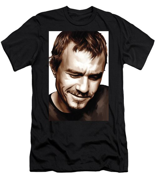 Heath Ledger Artwork Men's T-Shirt (Slim Fit) by Sheraz A