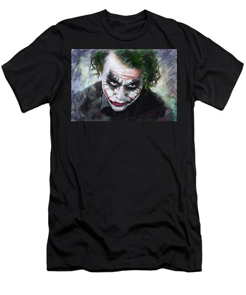 Heath Ledger The Dark Knight Men's T-Shirt (Slim Fit) by Viola El