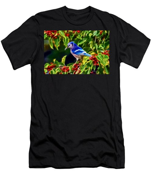Hiding In The Berries Men's T-Shirt (Slim Fit) by Stephen Younts