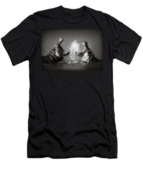 Hippo's Fighting Men's T-Shirt (Slim Fit) by Johan Swanepoel