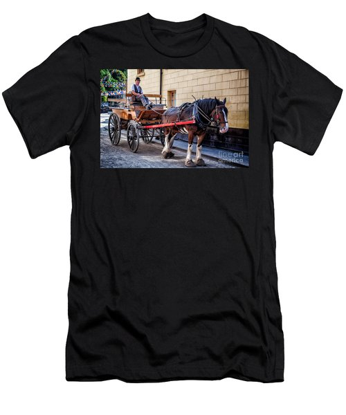 Horse And Cart Men's T-Shirt (Slim Fit) by Adrian Evans