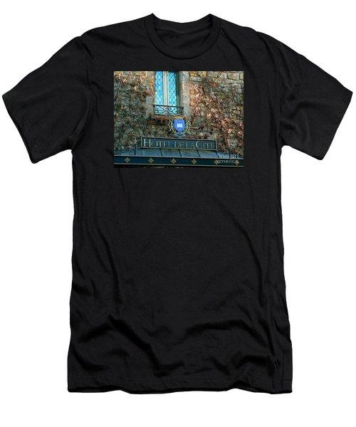 Hotel De La Cite Men's T-Shirt (Slim Fit) by France  Art