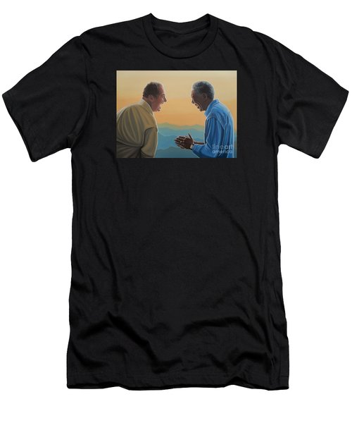 Jack Nicholson And Morgan Freeman Men's T-Shirt (Slim Fit) by Paul Meijering