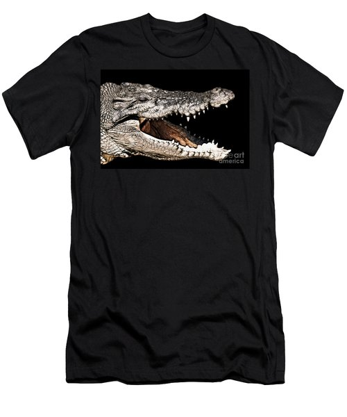 Jaws Men's T-Shirt (Slim Fit) by Douglas Barnard