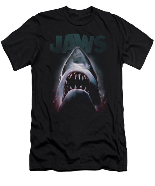 Jaws - Terror In The Deep Men's T-Shirt (Slim Fit) by Brand A