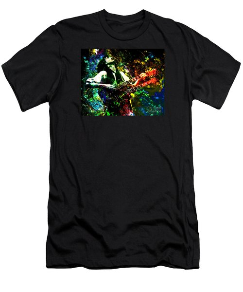Jimmy Page - Led Zeppelin - Original Painting Print Men's T-Shirt (Slim Fit) by Ryan Rock Artist