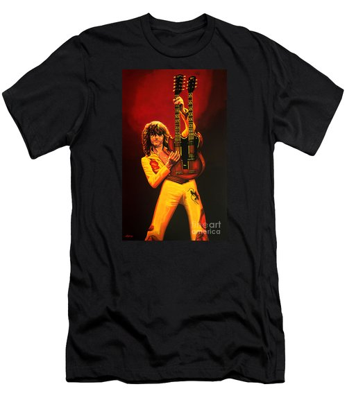Jimmy Page Painting Men's T-Shirt (Slim Fit) by Paul Meijering