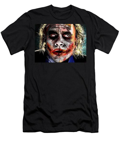 Joker Painting Men's T-Shirt (Slim Fit) by Daniel Janda