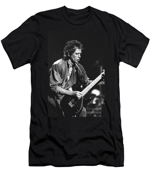 Keith Richards Men's T-Shirt (Slim Fit) by Concert Photos
