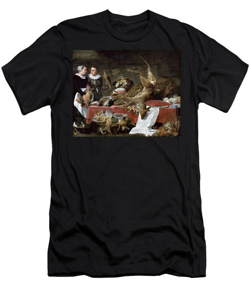 Le Cellier Oil On Canvas Men's T-Shirt (Slim Fit) by Frans Snyders or Snijders