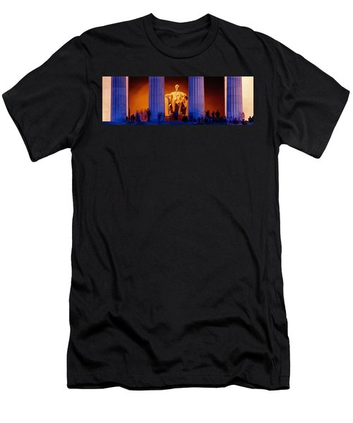 Lincoln Memorial, Washington Dc Men's T-Shirt (Slim Fit) by Panoramic Images