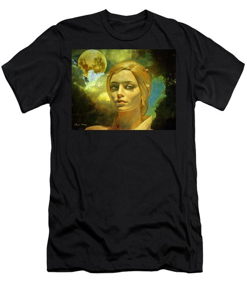 Luna In The Garden Of Evil Men's T-Shirt (Slim Fit) by Chuck Staley